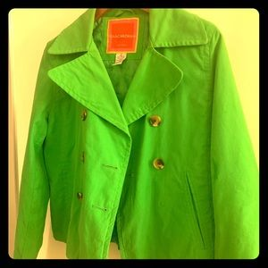 FUN shamrock green crop jacket.PERFECT for Spring!